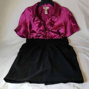 Roulette Ruffle Top Side Zip Dress